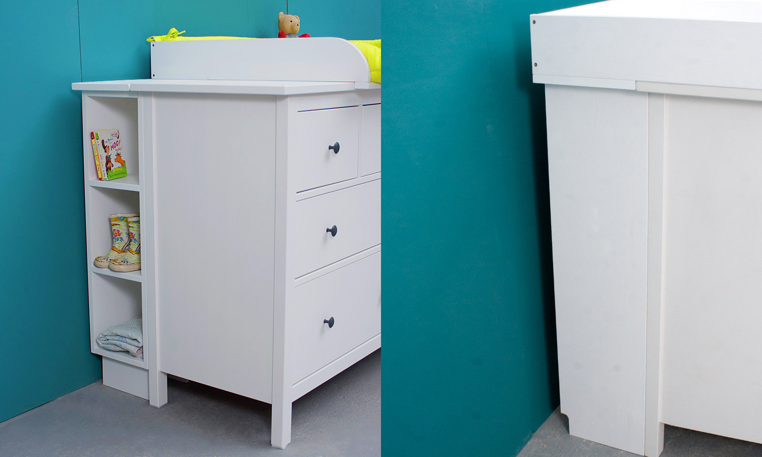 wickelaufsatz regal f r ikea hemnes schmal werkstatt geppetto. Black Bedroom Furniture Sets. Home Design Ideas